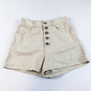 UO BDG High Waisted Button Up Speckled Shorts